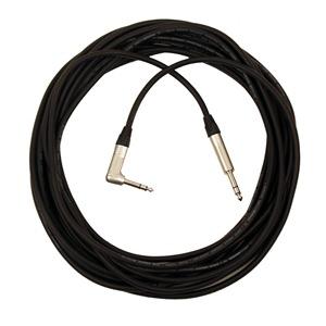 Pro Neutrik Balanced / Stereo Jack – Angled Jack Lead 10m Black