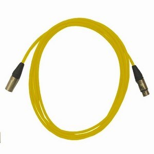Pro Neutrik XLR Cables 5m Yellow (5 Pack)
