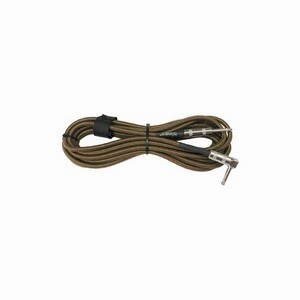 Guitar Lead Tweed Right Angle -Straight Jack 5m
