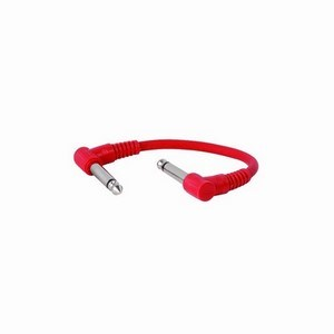 Guitar Pedal Leads 0.15m Mixed Colours 10-Pack
