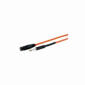 XLR Female - Mono Jack 7.5m Neon Orange