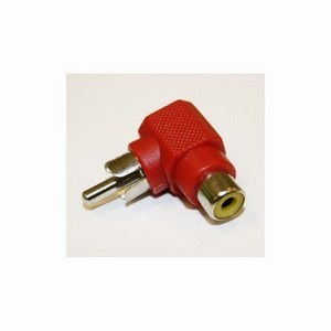 Phono Right-Angled Adaptor Red