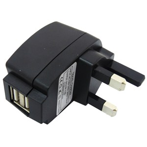 Mains Twin USB Charger Adaptor