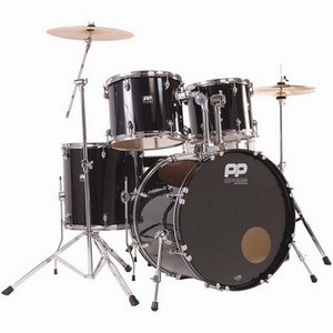 DRUM KIT PP300BK 5 PIECE ACOUSTIC DRUM KIT - BLACK