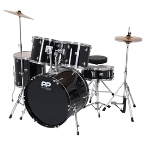 Drum Kit PP250BLK 5-Piece Acoustic