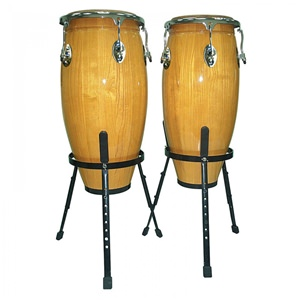 Conga Set With Stand 10 Inch x 11 Inch Natural