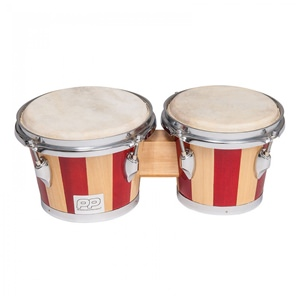 Bongo Drums 10Inch + 8.5Inch 2-Tone Wood