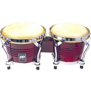 Bongo Drums 8Inch + 7Inch Wood Red