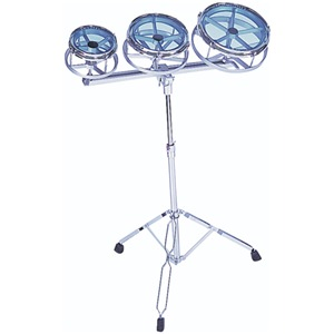 Roto Toms  x3 and Stand - Chrome