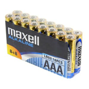 Maxell AAA 16-Pack Batteries