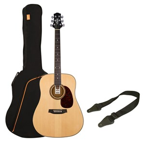 Ashton SPD25 Acoustic Guitar Pack Natural Matt