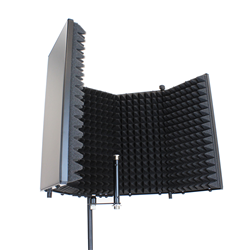 SoundLab Studio Microphone Reflection Screen Black