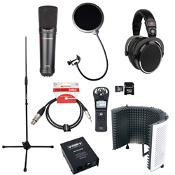 Voiceover and Podcasting Kit with Studiospares S1005 - Reflection Filter White