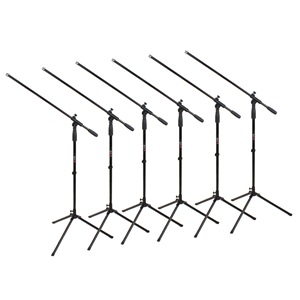 Live 6-Pack Mic Stands and Booms