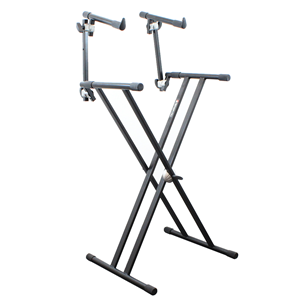 Trojan Heavy Duty Double Braced Two Tier X Framed Keyboard Stand