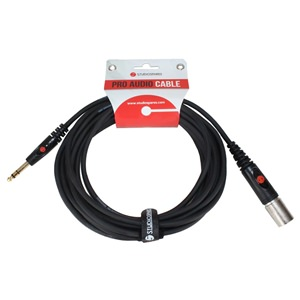 XLR Male - Stereo Jack Moulded 6m