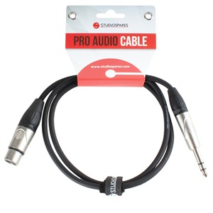 XLR Female - Stereo Jack Lead 5m