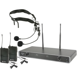 Chord Dual UHF Wireless Beltpack System Lapel/Neckband