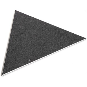 Intellistage 1m Carpet Finish Equilateral Triangle Platform