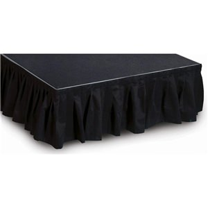 Intellistage 2 Meter Wide, 20 cm Long Black Skirt