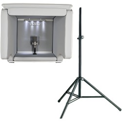 Isovox 2 Portable Vocal Booth with K&M Stand