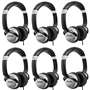 Numark HF125 Headphones (6 PACK)