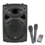QTX QR12PABT Portable PA Bluetooth and Wireless Microphones 2-Way