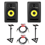 KRK Rokit RP5 Studio Monitors Stands Bundle