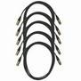 Pro Neutrik XLR Cables 10m Black 5-Pack